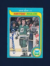Dave Keon signed Hartford Whalers 1979 Opee Chee hockey card
