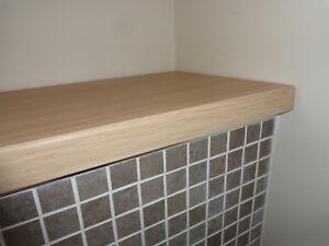 Ferrara Oak vinyl-wrapped MDF worktops