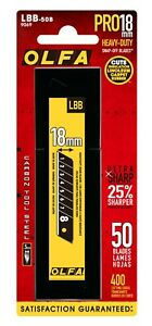 OLFA LBB-50B 18mm blades for Warehouses, Arts, Crafts, Quilting, Scrapbooking