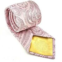 Donald J Trump 100% Silk Signature Collection Tie Pink Paisley Classic Necktie