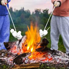 Fogueira torrefação Stick Extensível Marshmallow smores Hot-dog Garfo Churrasco Espeto