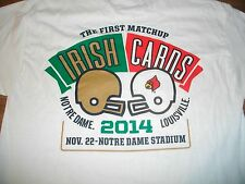Notre Dame Fighting Irish vs Louisville 2014 Football Gameday T-Shirt Med New