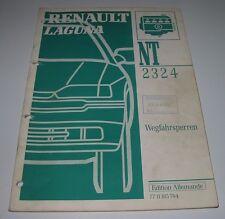 Werkstatthandbuch Renault Laguns Wegfahrsperren Alarmsysteme Stand 1995!