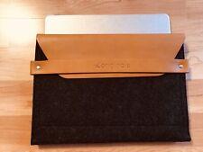 The Originals Mujjo iPad Envelope Sleeve - Tan Leder Filz Apple Tablet