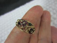 vintage? gold? filigree ruby diamond? flower ring size 8
