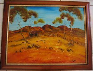 Australia's Gypsy Nick Petali original painting titled 'Outback Scene'