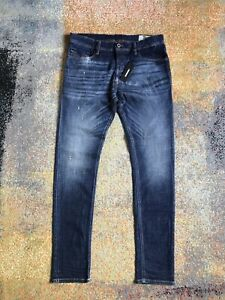 DIESEL TEPPHAR Jeans Slim Carrot Button Fly 087AT Size W34 32 Skinny