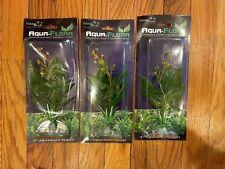 """New listing Lot Of 3 - Deep Blue Aquatics Aquarium grn Plastic 9"""" Plant Arrow Head Ornament"""