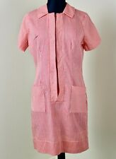 Vintage 1960s Candy Striper Uniform S Mini Dress Shift Waitress Maid Nurse