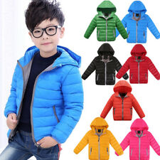 Kids Boys Girls Duck Down Snowsuit Winter Hooded Warm Puffer Coat Jacket Outwear