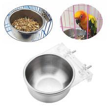 Parrot Bowl + Rack Feeding Trough Food Bird Pigeon Feeding Parrot Parakeet Cage