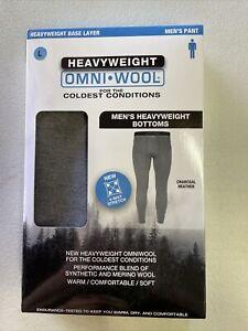 OMNI WOOL heavyweight Base Layer Pants Sz Large Merino Wool Blend Coldest Condi
