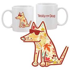 Teddy the Dog Coffee Mug Fall Teddy Limited Edition Autumn Leaves Ceramic Cup