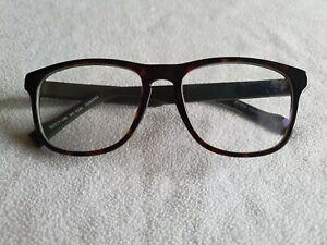Boss Orange brown tortoiseshell / green glasses frames. BO 0180.