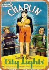 Metal Sign - 1931 Charlie Chaplin City Lights Movie - Vintage Look