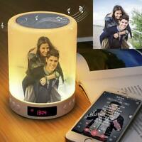 Personalized Photo Night Light LED Wireless Bluetooth Speaker Touch Control Gift