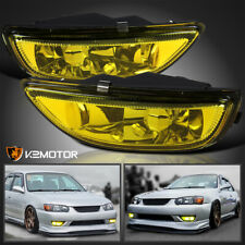 For 2001-2002 Toyota Corolla Yellow Bumper Driving Fog Lights Lamps Left+Right