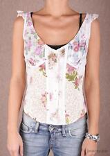 Replay Button front Floral Vest Top Small Box12 50 L