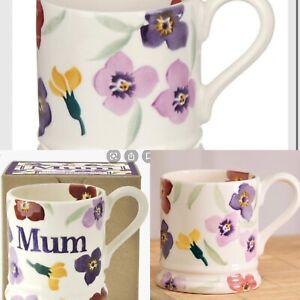 Boxed Emma Bridgewater Wallflower Half Pint Mum  Mother's Day flower purple
