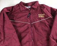 Walker School Jacket VTG Mens L/XL Windbreaker Lined Georgia 90s Wolverines Coat