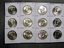 2005 2006 2007 2008 2009 2010 P  D  KENNEDY HALFS FROM MINT RLS (12 Coin Set}