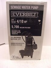 Everbilt Heavy duty cast Iron  6/10 HP Sewage Pump