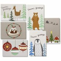 "36-Pack Merry Christmas Greeting Cards Bulk Box Set with Wintertime Design 4""x6"""