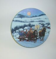 Full Moon Winter Sleigh Ride Tin Box