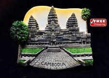 ANGKOR WAT CAMBODIA 3D New Fridge Magnet Souvenir Ceramic Resin