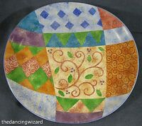 Sango Pizzazz 4907 Oval Serving Platter Sue Zipkin Multicolor Geometric