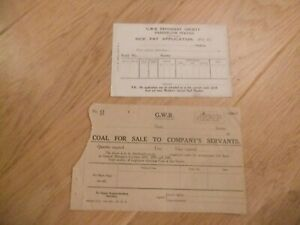 GWR Great Western Railway - Railway Paperwork - 2 items pre nationalisation