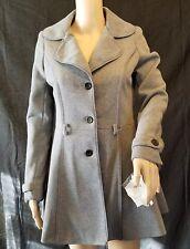 NWT *Missing Belt Jou Jou Women's Grey SMALL Jacket Long Sleeve Side Pockets L15