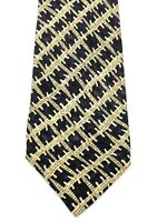 Ermenegildo Zegna Mens Tie Necktie 100% Silk Made in Italy Black Multi Color