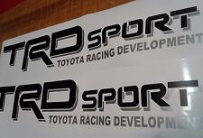 TRD sport, decal Sticker Toyota tacoma tundra black Matt and gray (set)