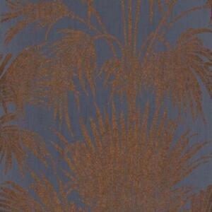 BEEP82246415 - Belle Epoque Blue Palm Leaves Casadeco Wallpaper