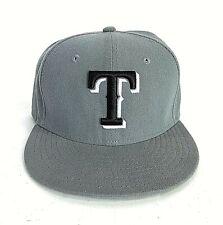 New Era Texas Rangers Hat Baseball Cap 59Fifty Gray With Black Logo 56.8cm