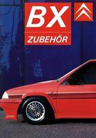 Citroen BX Zubehör Prospekt 1987 9/87 brochure accessoires accessories Katalog