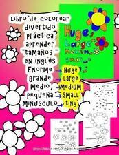 Libro de Colorear Grande Medio Pequeña Aprender Tamaños en Inglés para niños...