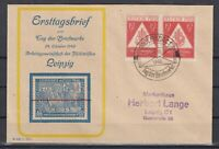 CU7622/ GERMANY SOVIET ZONE – MI # 228 PAIR ON ILLUSTRATED COVER