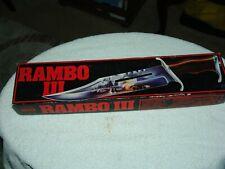 RAMBO III@ UC-201 KNIFE , LEATHER SHEATH, & ORIGINAL BOX