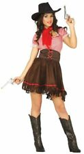 Womens Cowgirl Rodeo Wild West Fancy Dress Costume Outfit