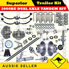 DIY 2000KG Dual Axle Tandem Trailer Kit ROCKER ROLLER  SPRINGS / DISK.BRAKES 2-1
