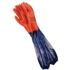 60 cm schulterlang PVC Handschuhe Arbeitshandschuhe Gummihandschuhe (RPCV60)