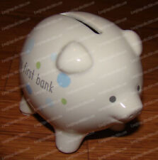 My First Piggy Bank, Blue Mini Pig (Beginnings by Enesco, 4058416) Stoneware
