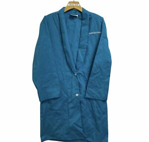 Vintage 80s Nutrisystem Lab Medical Coat Employee Uniform Size Medium Green