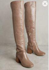 Anthropologie Matiko Lakota sopra il ginocchio Boot Donna SZ 5 Tan in Pelle $298 L28