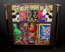 New Orleans Voodoo Hot Box Hot Sauce Voodoo Doll Manual Book Beads 4 Piece Set