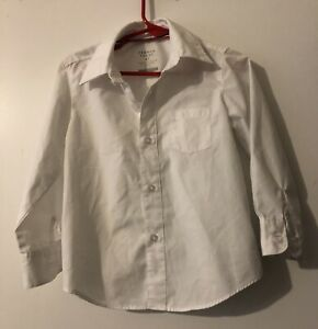 french toast 4T white button up shirt long sleeve