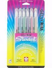 Sakura Gelly Roll Stardust Galaxy Pen Set - Bold Point Gel Ink - 6 Colors 37903