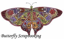 BUTTERFLY Animal Spirit Cling Unmounted Rubber Stamp EARTH ART Sue Coccia New
